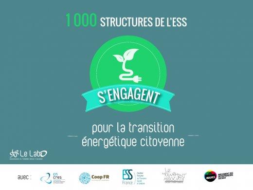 1000 structures de l'ESS pour la Transition énergétique citoyenne