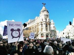 Manif Podemos Madrid Janvier 2015