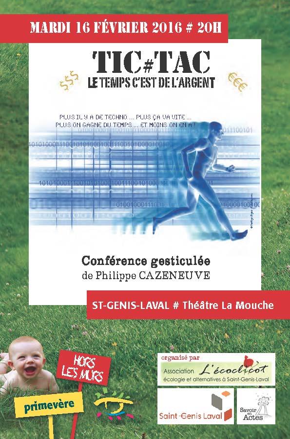 Salle comble pour TIC#TAC à St-Genis-Laval !!
