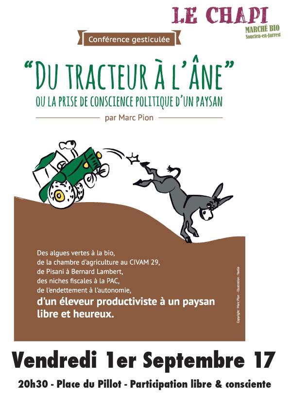 Du tracteur à l'âne - conf gesticulée de Marc Pion