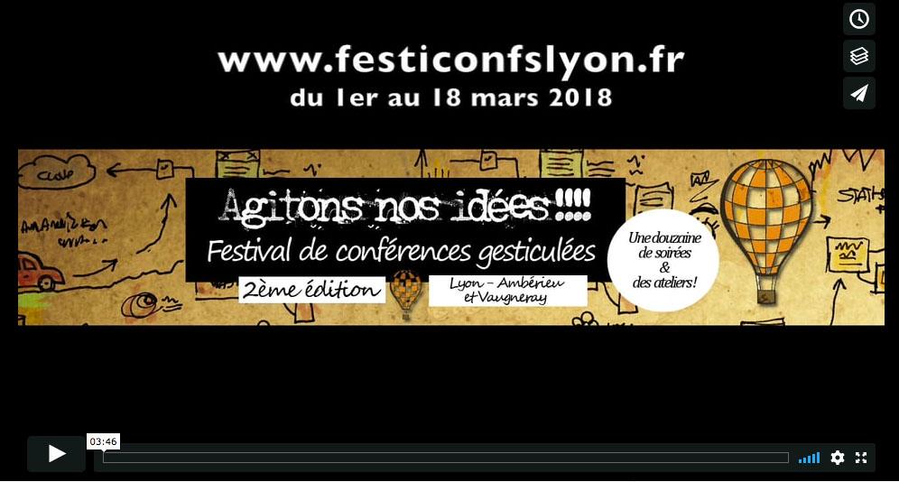 2e Festival de conférences gesticulées de Lyon - 1er au 18 mars 2018 - teaser