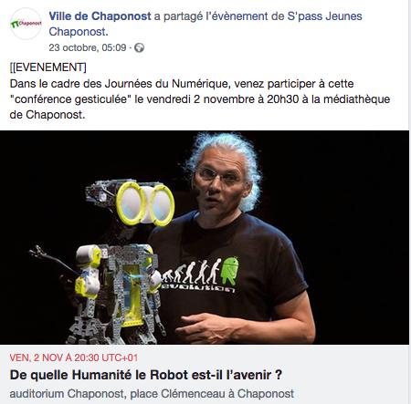 Evènement Facebook - 2 novembre 2019 - Chaponost (69)