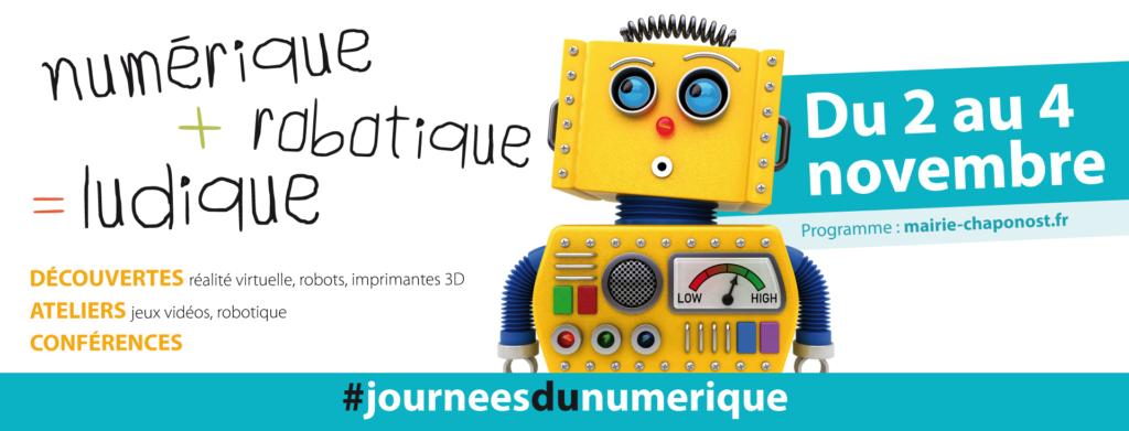 Journées du Numérique - 2 au 4 novembre 2019 - Chaponost (69)
