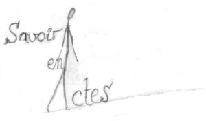 Esquisse pour la recherche du logo de Savoir en Actes